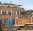 Odell Res. - Rear Elevation Garage Construction
